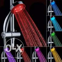 7-color LED lights rainfall shower head (3 pics)