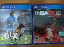 Fifa 16 & 2k16 nba ps4 games