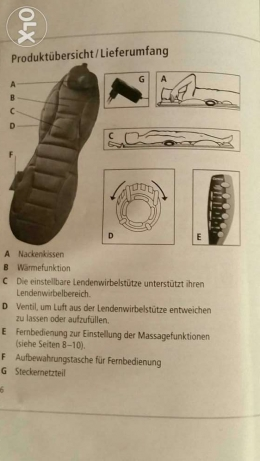 Bed relax massager germany electronig full remoth controll