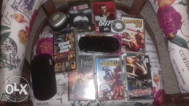 PSp + accessories and 8 games
