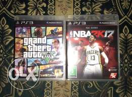 nba 2k17 and gta 5 for ps3 new