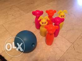 3 colorful toys