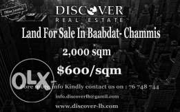 Land for sale in Baabdat - Chammis