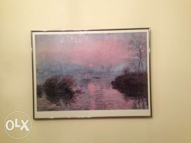 Wall art Claude Monet. Last chance leaving country October 25. كسروان -  1