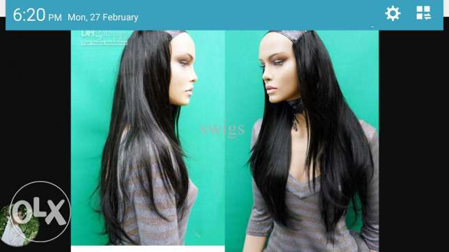 2 black and thick hair extentions