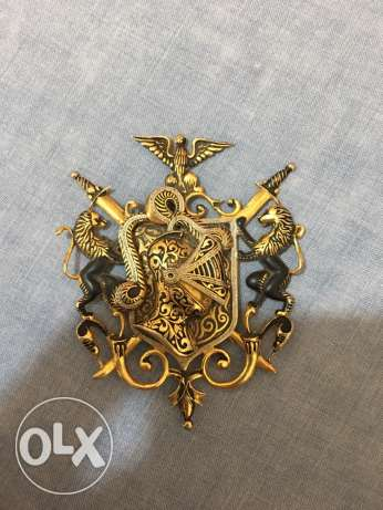 vintage ( 1960s) Spanish brooch knightly crest
