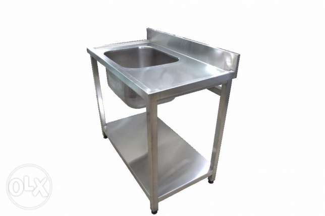 مجلى ستانلس ستيل - Sink Unit 1 bowl Stainless Steel