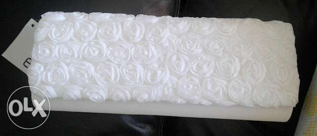 Eferri white cluctch. never used. suitable for wedding dress, cocktail