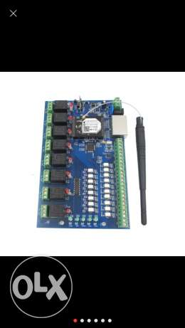 8 relay home automation board