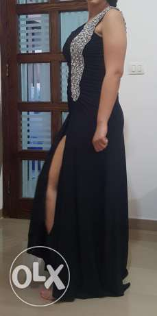 Silver with black dress