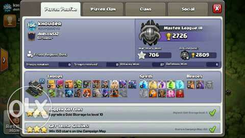 Account Clash of clans