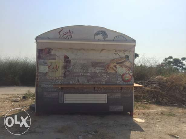 Steel kiosk 2.5x3.5 m 8.5 sqm ready with kitchen supplies for sale