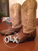 Texas boots diamond back snake leather