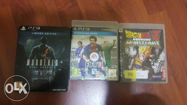 Ps3 Murdered-fifa 13- dragon ballZ all for 20$