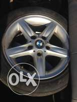 4 used tires + rims for BMW