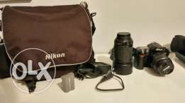 Nikon D80 (body+2 lenses+battery and battery charger+bag)
