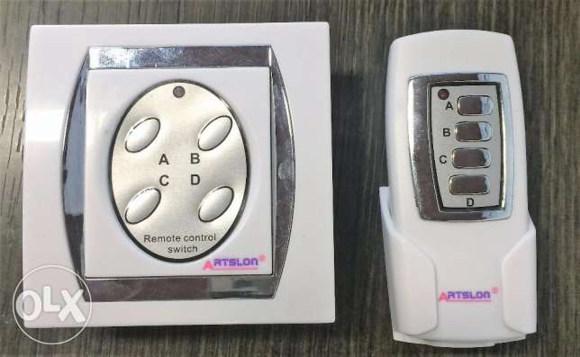 4-Channel Digital Wireless Remote Control Electrical Switch