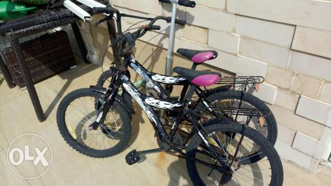 2 bicycle for kids good condition