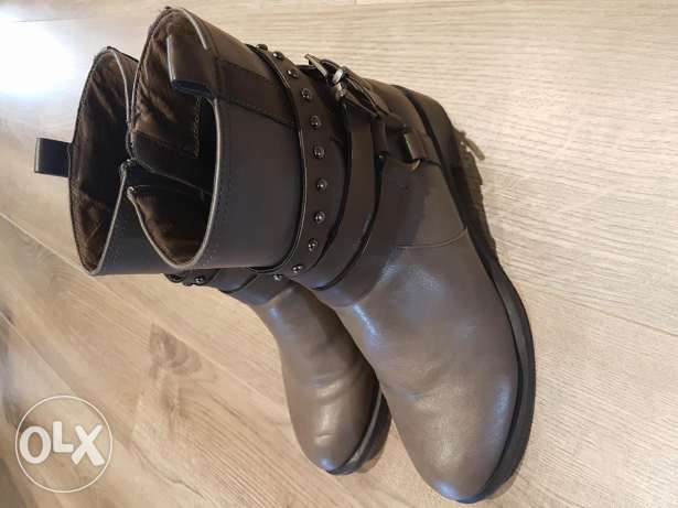 Greige boots - Used 3 times