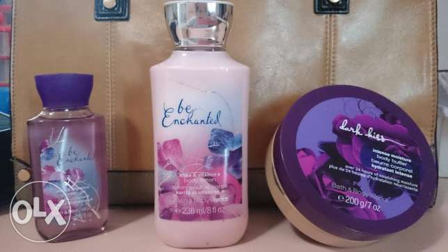 Bath and Body Works - shower gel + body lotion + body butter