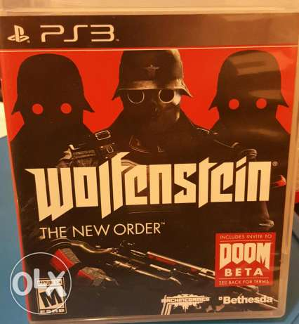 PS3Game wolfenstein the new order مكلس -  1