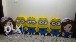 Piñatas and decorations cartoon for sale