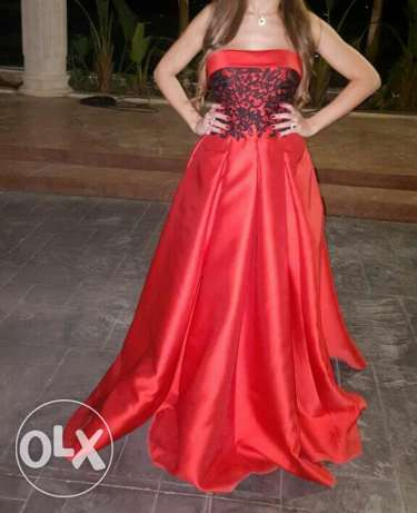 Royal red dress used only once
