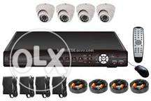 4 camera 1mp . Cctv kit high definition ahd