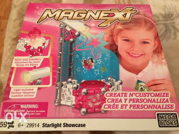 MAGNEXT ,starlight showcase with light ,59 pcs. 6+ ages
