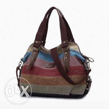 Canvas casual shoulder handbag (3 pics) Free delivery