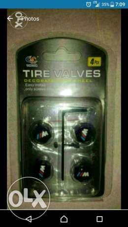 Tire valve for bmw with mpower logo dod l ser2a حازمية -  1