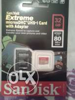 SANDISK sd memory card 32gb CLASS 10 Extreme full hd free delivery