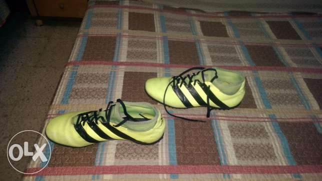 Adidas Football Shoes - ACE 16.3 Yellow PrimeMesh Turf الشياح -  8
