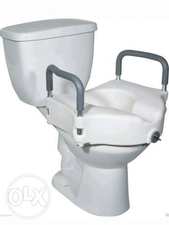Toilet Seat Raiser With Removable Arms Armrests