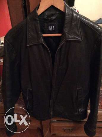 Gap real leather jacket