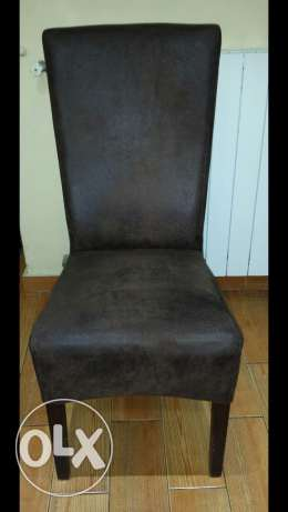 6 chairs Nobok brown for sale 600$