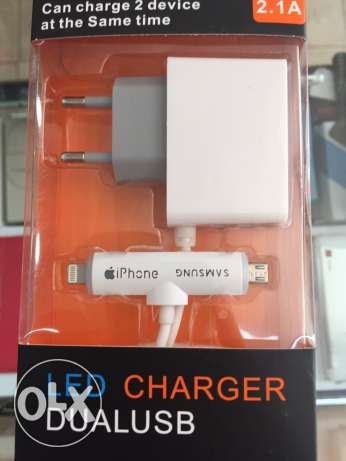 2 in1 charger iphone/samsung