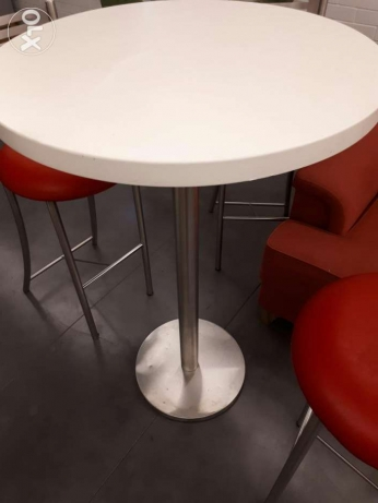 High tables and stool chairs