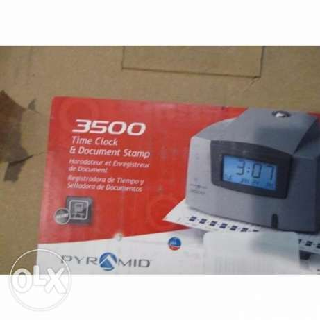 Pyramid 3500 Time Clock And Document Stamp