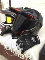 agv and progrib helmet