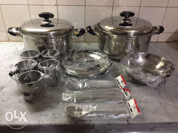 set casserole stainless good quality