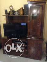tv cabinet + side table