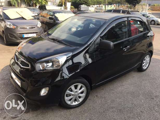 Kia Picanto 2012-Black-Like new غازير -  2