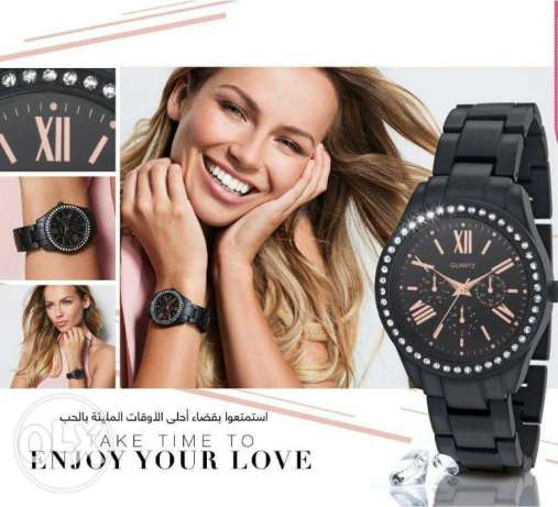 Avon new black metal watch $27 free delivery in beirut