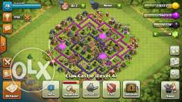 Coc (clash of clans) th8 for sale
