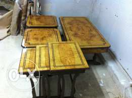 A set of salon tables