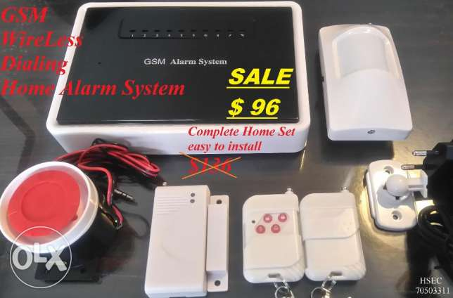 GSM WireLess Dialing Home Alarm System