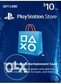 playstation card 10$ US store