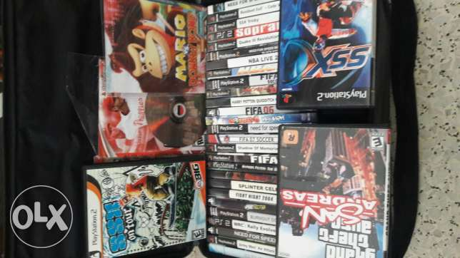 bag of ps2 games (gta, ssx, fifa, need for speed and more...