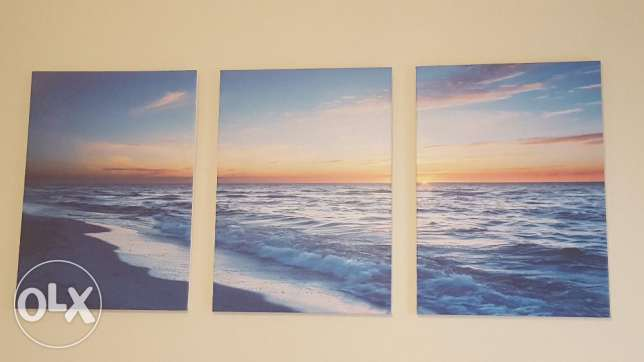 Seascape & sunset Painting